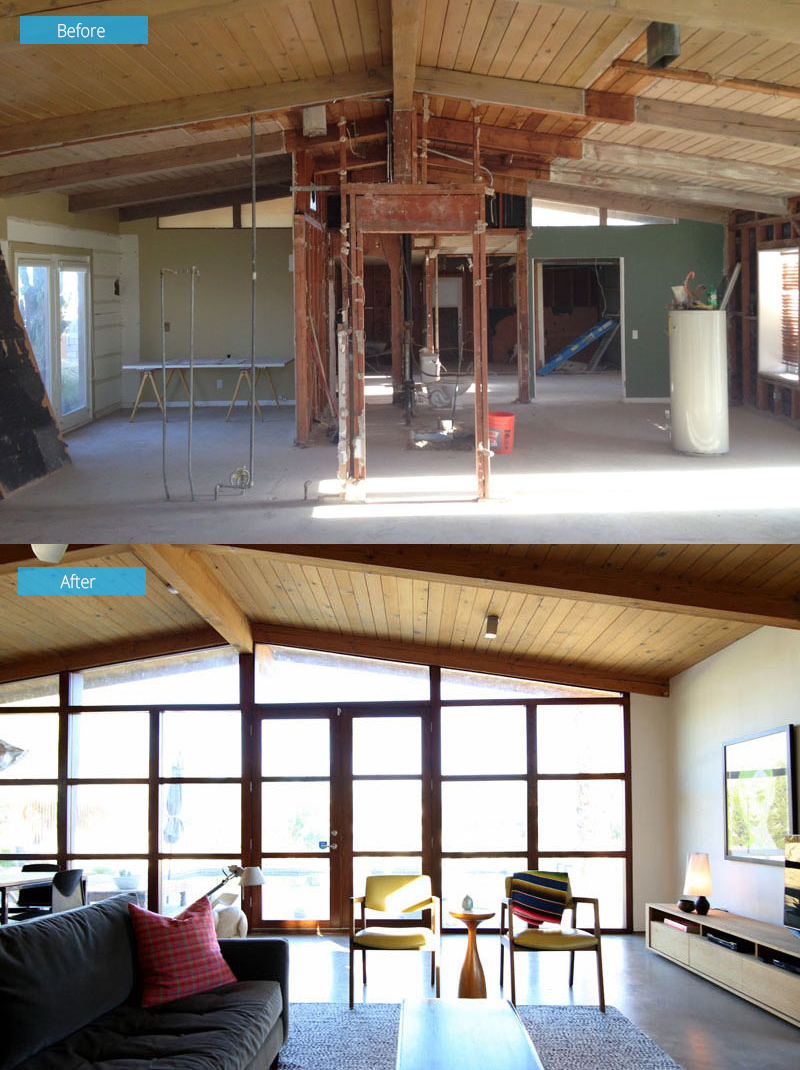 Chino Canyon Before After Interior