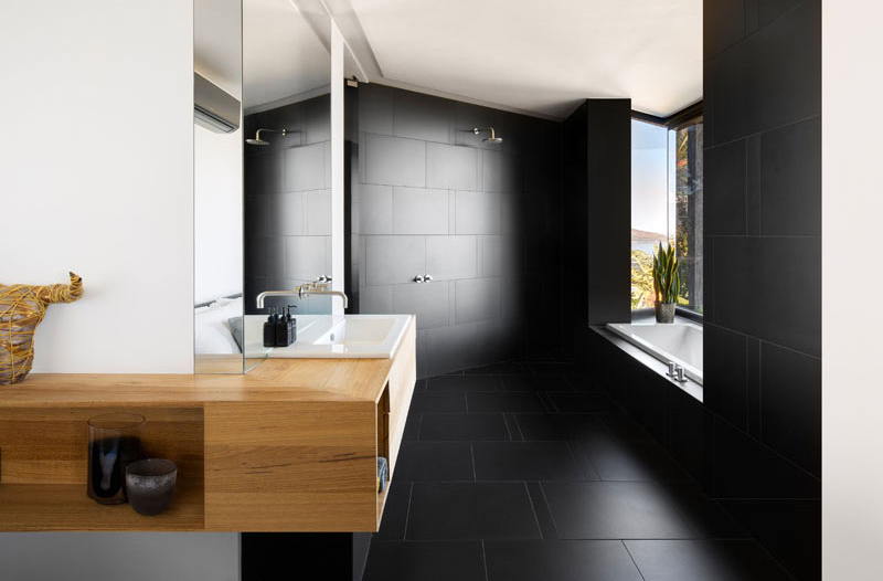 Dark Modern Home bath