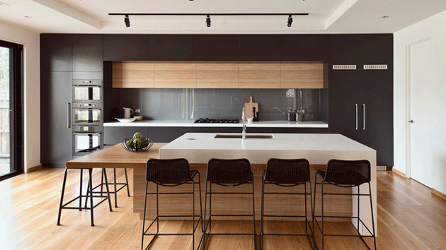 20 Modern Black And White Kitchens That Used Wood Home Design Lover