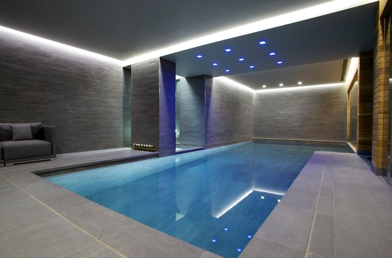 Indoor Luxury Swimming Pool, Surrey. Design By Guncast