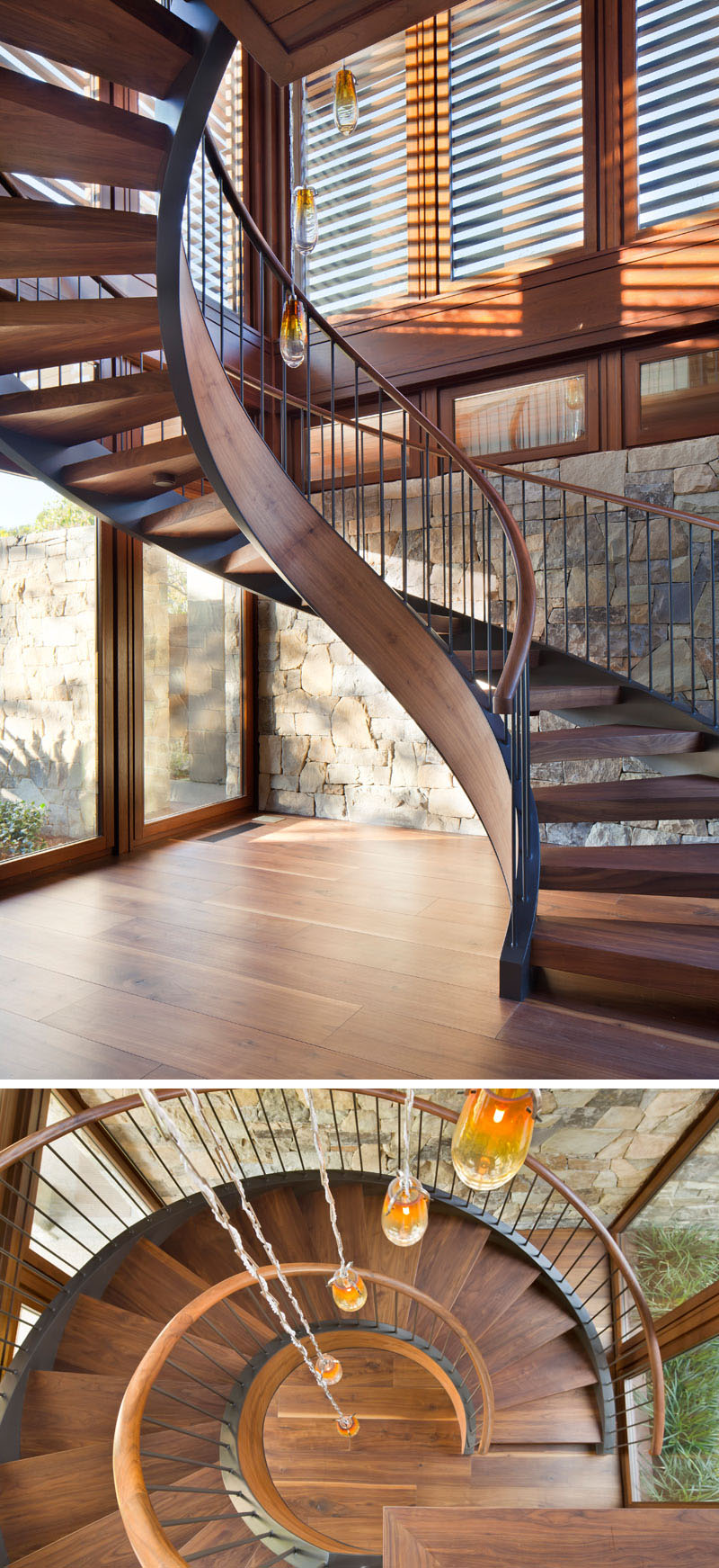 Tower Grove House spiral stairs