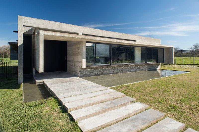 Mach House concrete path
