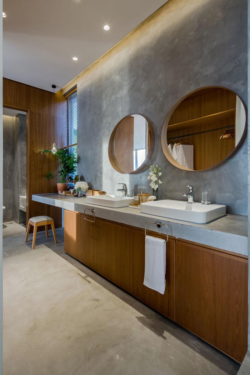 Raised Platform Interior bathroom vanity