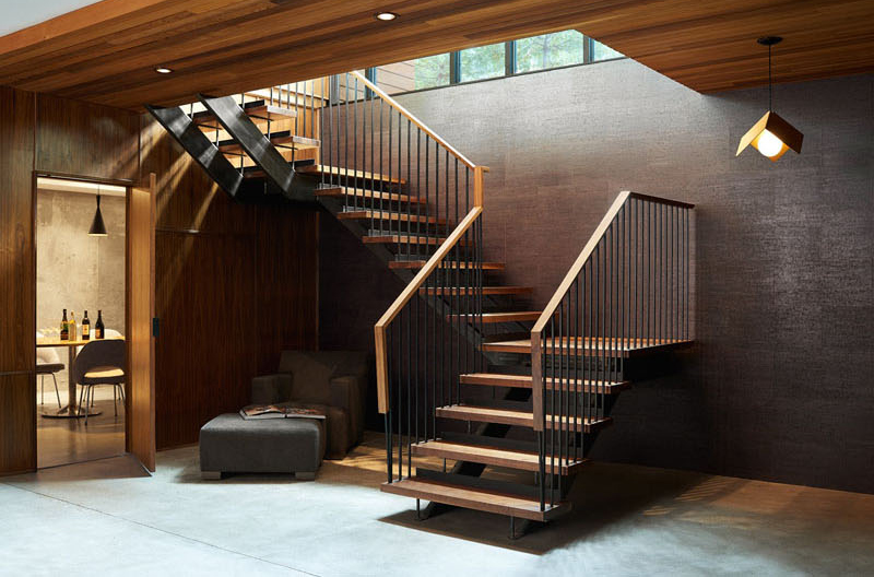 Theodore Wirth Ranch wood steel stairs