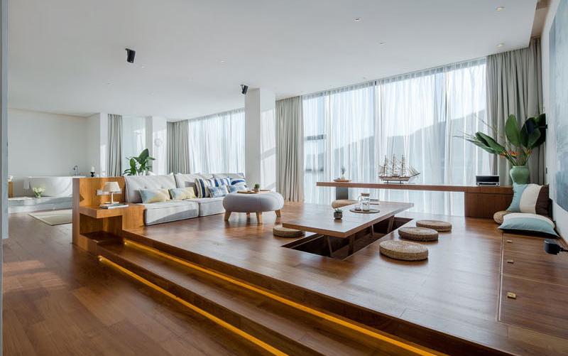 Raised Platform Interior dining room