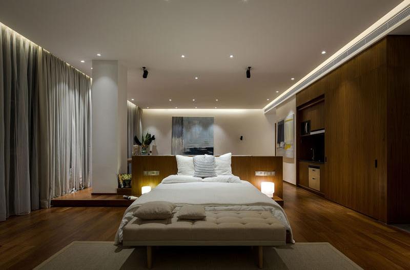 Raised Platform Interior bedroom