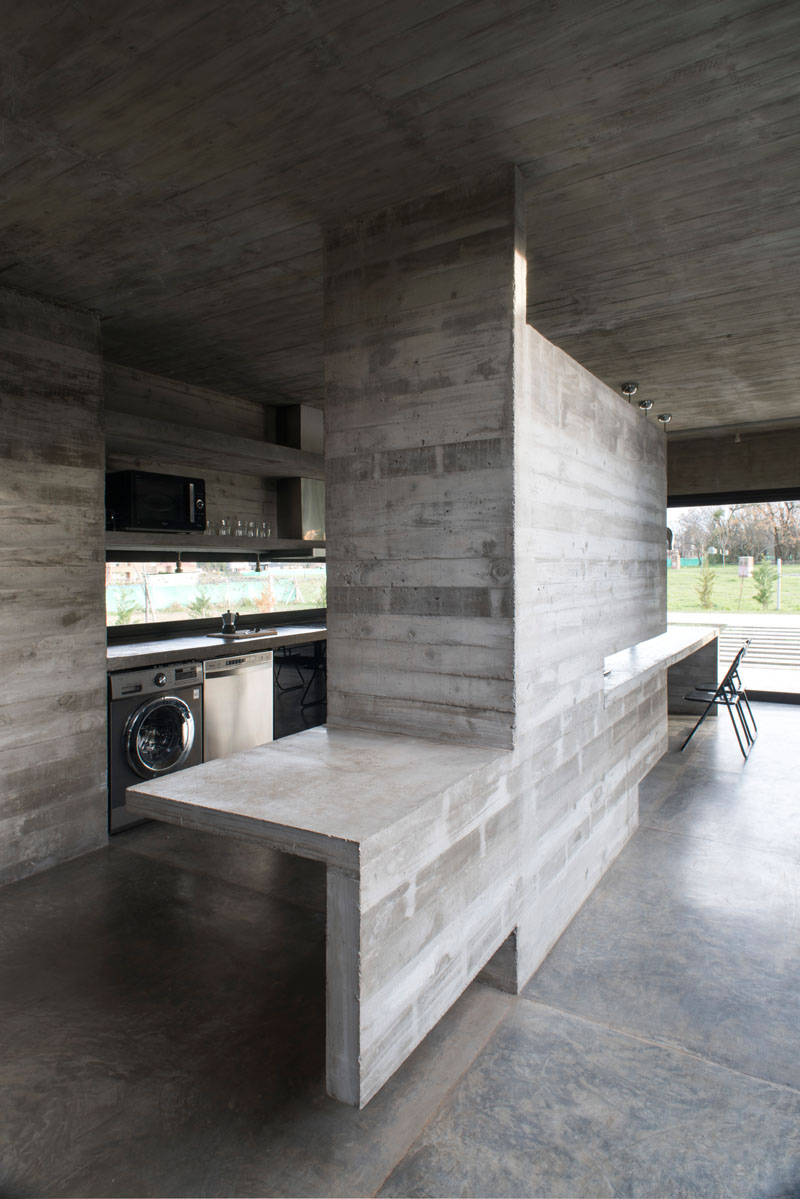 Design Cement Board : Concrete modern mach house in argentina home design lover
