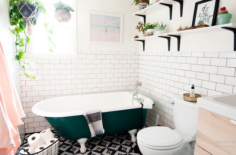 Eclectic Bohemian Bathroom
