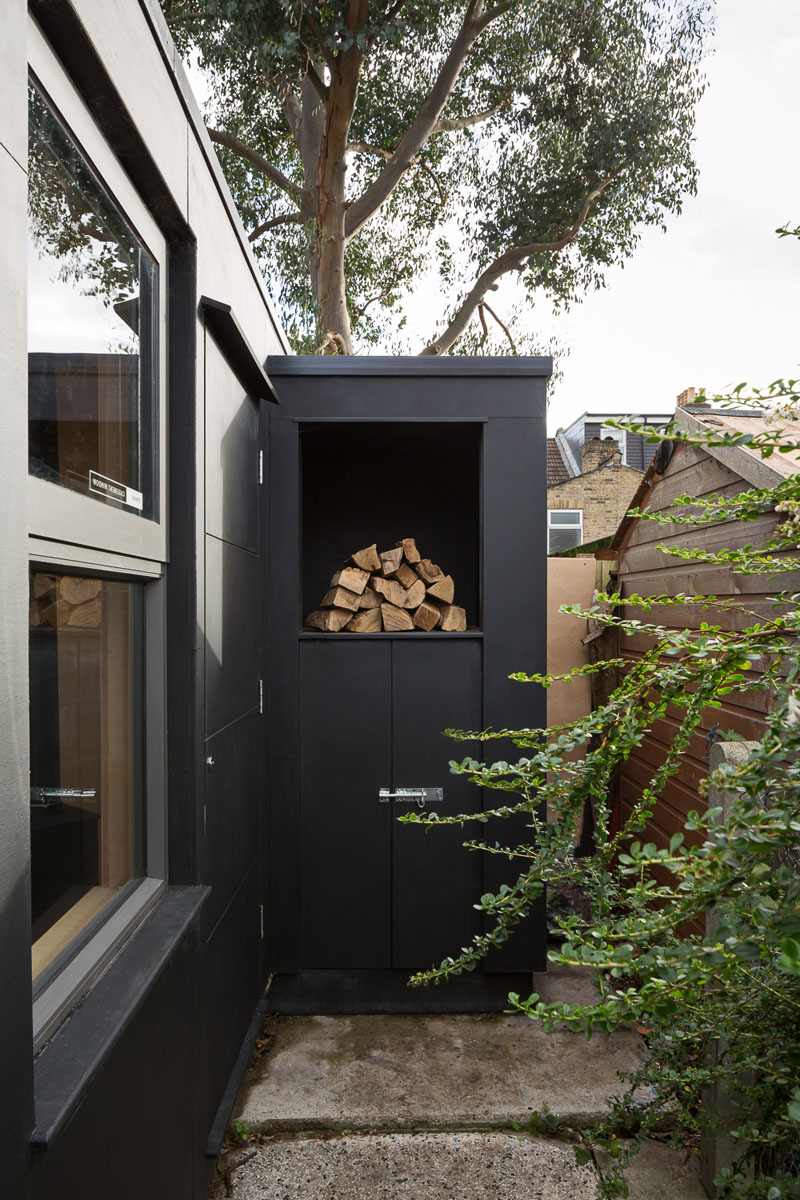 Pottery Shed firewood storage
