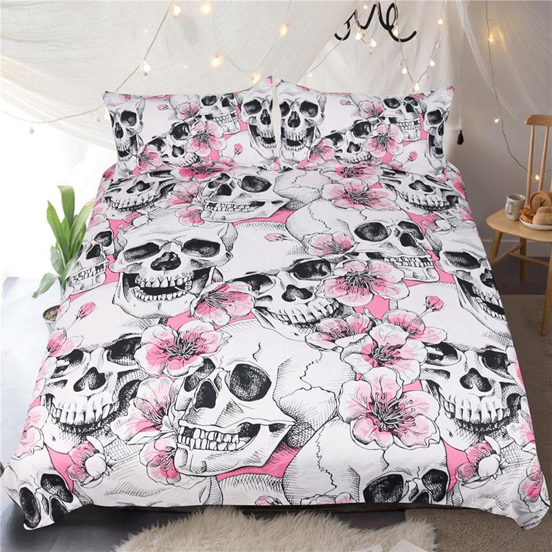 Sakura Skull Duvet Cover