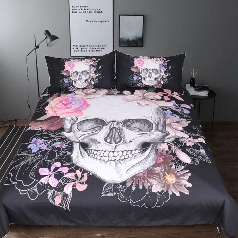 Sketchy Skull Duvet Cover