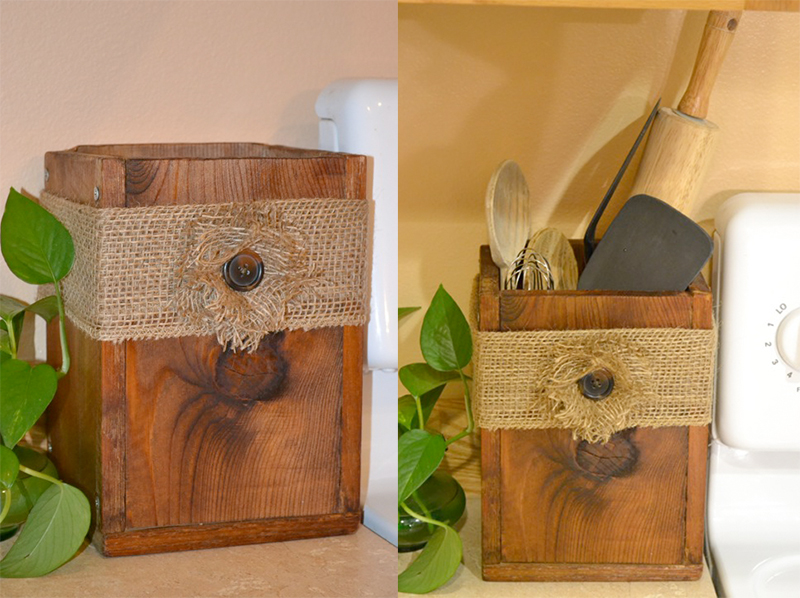 Wooden Utensil Box