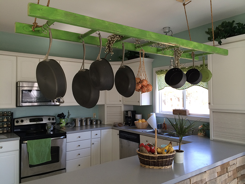 Hanging Ladder Pot Rack