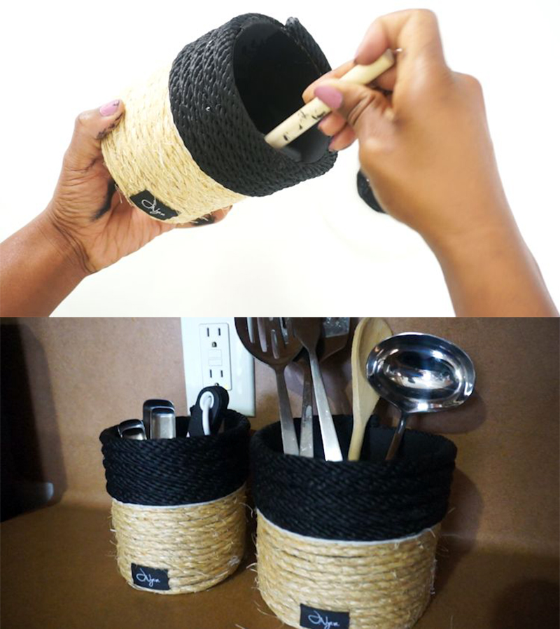 Rope Oatmeal Canisters