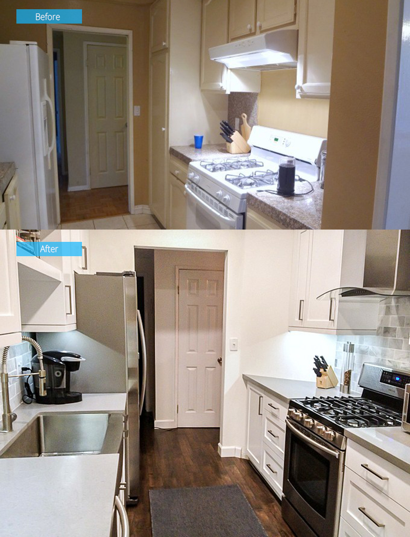 Kitchen Renovation Before & After Photos West Hollywood Condo