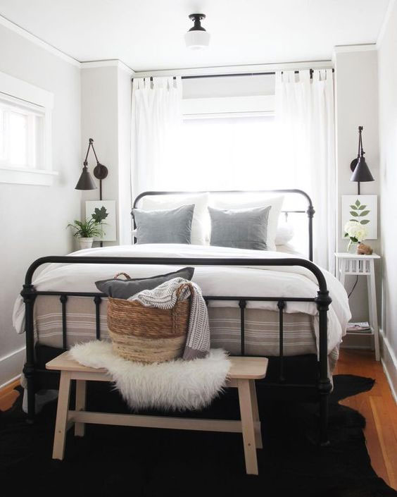 Industrial Bed inside small bedrooms
