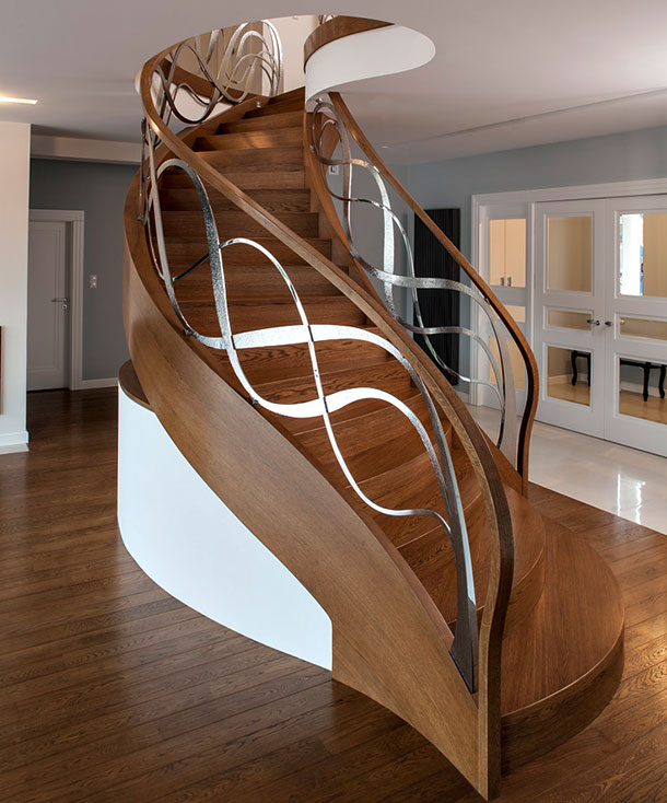 Modern helical stairs