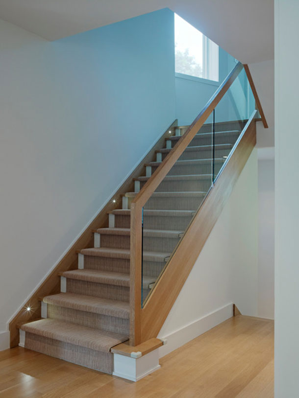 Contemporary glass rails