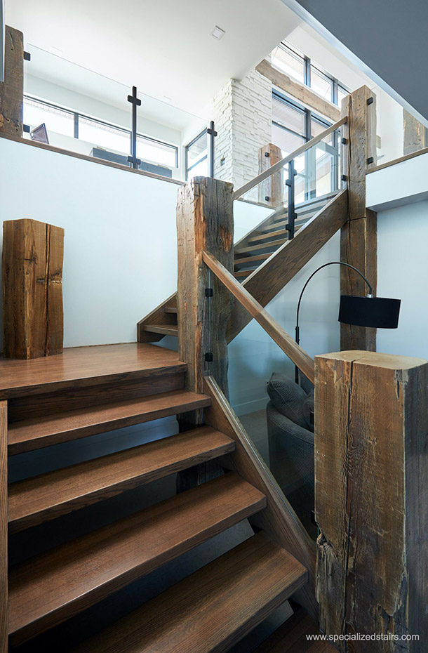Modern rustic staircase